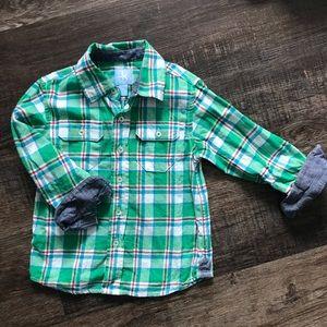 Boys flannel button down
